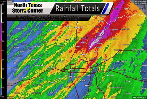 North Texas Rainfall Totals